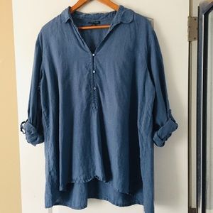 Eileen Fisher Oversize Chambray Top
